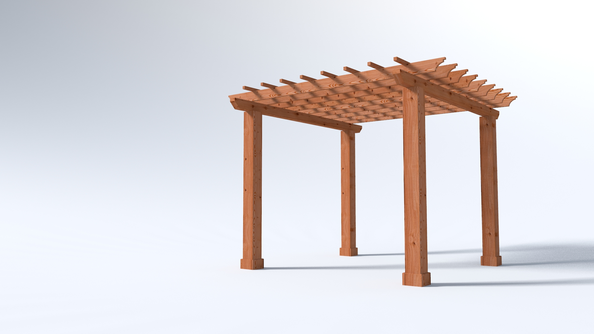 12x12 Garden Pergola - 4x Beams