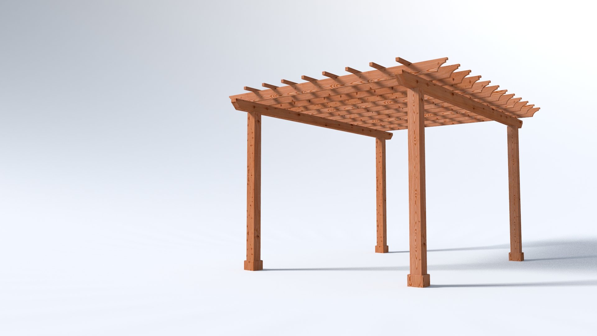 Main 1 - 12x16 Garden Pergola Kits - 4x Beams with 6x6 Posts - Sequoia Building Supply