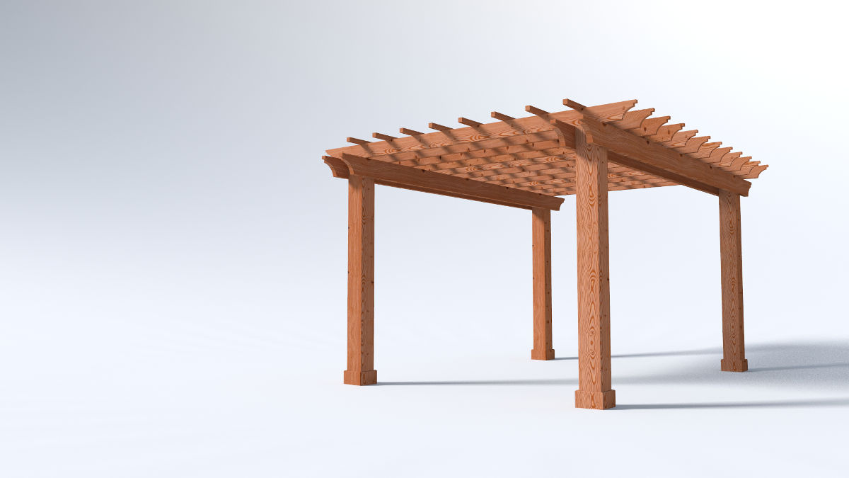12x16 Garden Pergola - 2x Beams