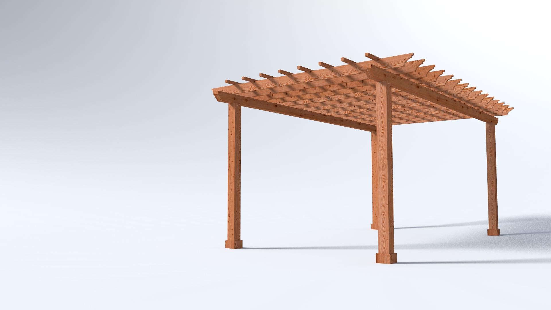 12x20 Garden Pergola - 4x Beams