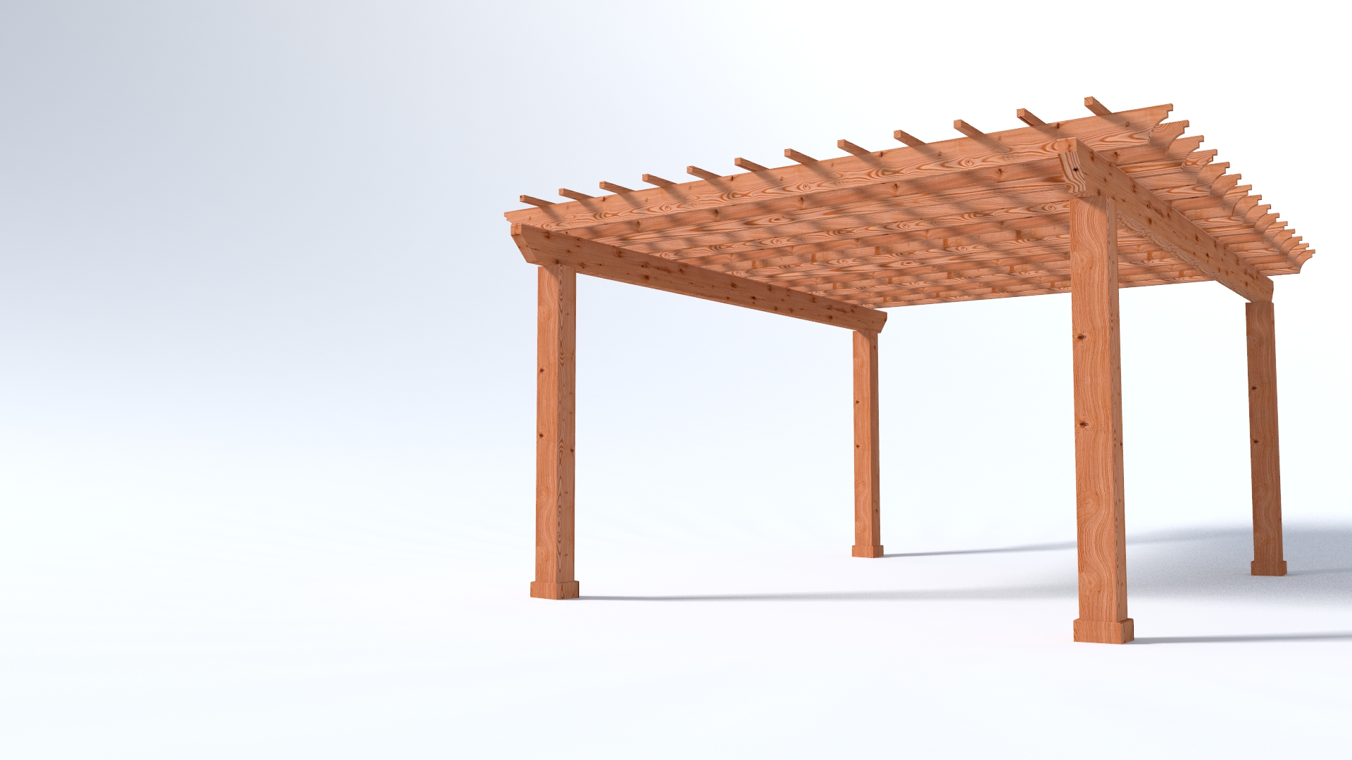 Main 1 - 16x20 Garden Pergola - 4x Beams with 8x8 Posts - Sequoia Building Supply