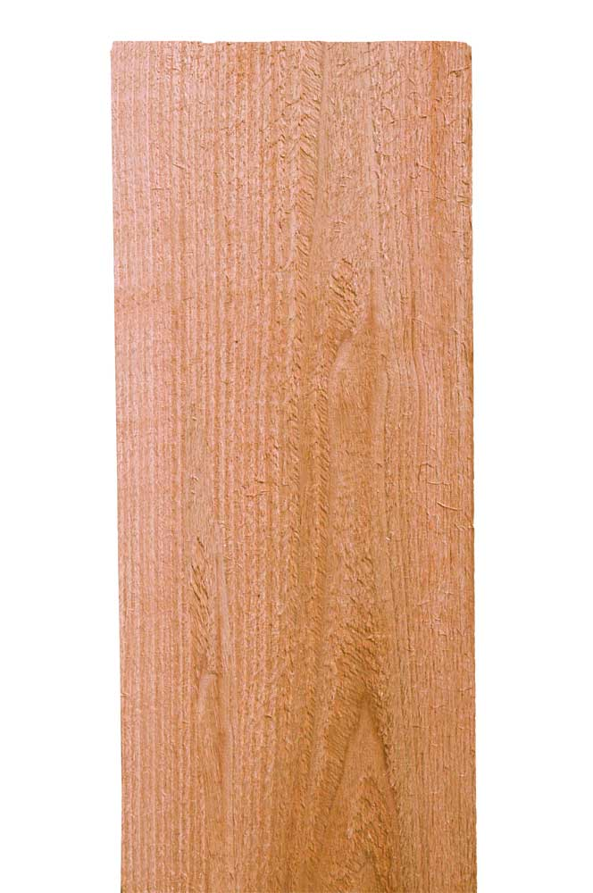 1x6x6 Clear WRC Flat Top Fence